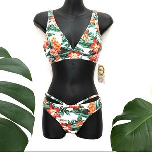 NWT Rip Curl Bikini floral tropical padded bra